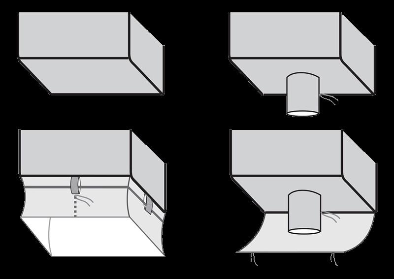 4-sivuinen suursäkki pohjaratkaisut